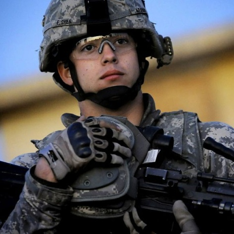 photo of soldier in combat gear